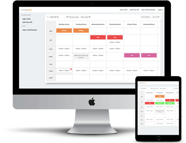 Free Staff Rostering & Employee Scheduling Software | Easily